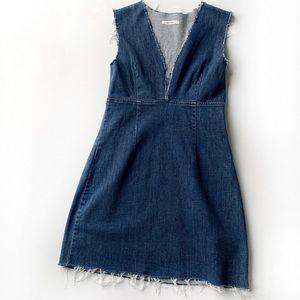GRLFRND Estelle Deep V Denim Dress